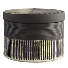 Buy John Lewis Ceramic Striped Box, Black/White Online at johnlewis.com