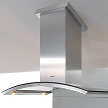 Buy Miele DA5100D Island Chimney Cooker Hood, Stainless Steel/Glass Online at johnlewis.com