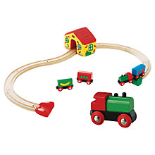 Buy John Lewis Exclusive Brio My First Railway & Train Set Online at johnlewis.com