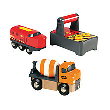Buy John Lewis Exclusive Brio Train & Truck Online at johnlewis.com