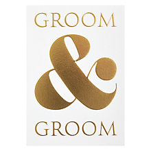 Buy Lagom Designs Groom and Groom Wedding Card Online at johnlewis.com
