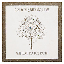 Buy Five Dollar Shake Love Etched Wedding Day Card Online at johnlewis.com