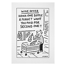 Buy Woodmansterne Wine Offer Greeting Card Online at johnlewis.com