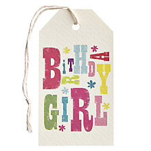 Buy Art File Birthday Girl Gift Tag Online at johnlewis.com