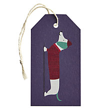 Buy Art File Frank Sausage Dog Gift Tag Online at johnlewis.com