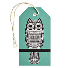 Buy Art File Owls Gift Tag, Turquoise Online at johnlewis.com
