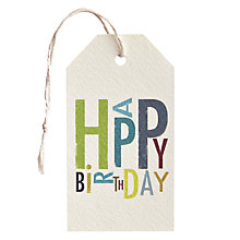 Buy Art File Happy Birthday Gift Tag Online at johnlewis.com