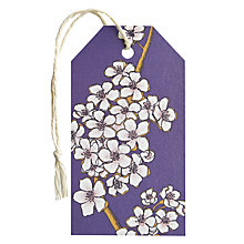 Buy Art File Blossom Gift Tag, Purple Online at johnlewis.com