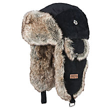 Buy Barts Faux Fur Rib Bomber Trapper Hat, One Size, Black Online at johnlewis.com