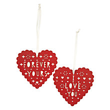 Buy John Lewis Hanging Heart, Red Online at johnlewis.com