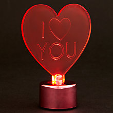Buy John Lewis I Love You Light Online at johnlewis.com