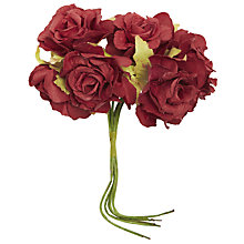 Buy John Lewis Ruffle Roses, Red Online at johnlewis.com