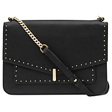Buy Reiss Tali Stud Shoulder Bag, Black Online at johnlewis.com
