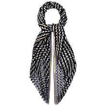 Buy Jaeger Monochrome Striped Scarf Online at johnlewis.com