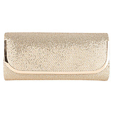 Buy Oasis Cahir Glitter Clutch Bag, Silver Online at johnlewis.com