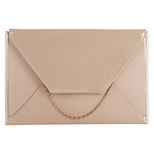 Buy Oasis Cara Envelope Clutch Bag, Light Neutral Online at johnlewis.com