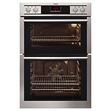 Buy AEG DE4013001M Double Electric Oven, Stainless Steel Online at johnlewis.com