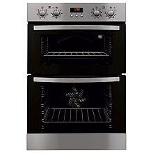 Buy Zanussi ZOD35712XK Double Electric Oven, Stainless Steel Online at johnlewis.com