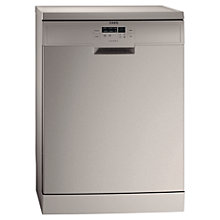 Buy AEG F55500M0 Dishwasher, Stainless Steel Online at johnlewis.com