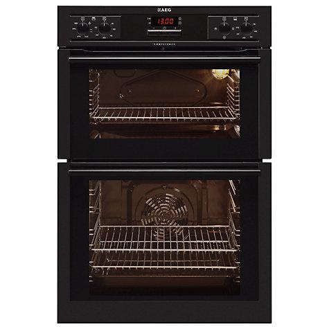 buy aeg de4043001b built in double electric oven black. Black Bedroom Furniture Sets. Home Design Ideas