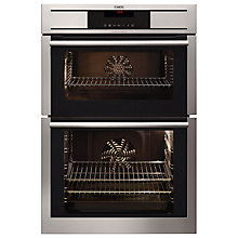 Buy AEG DC7013001M Double Electric Oven, Stainless Steel Online at johnlewis.com