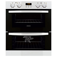 Buy Zanussi ZOF35511WK Double Electric Oven, White Online at johnlewis.com