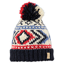 Buy Barts Woody Beanie Hat, One Size, Navy Multi Online at johnlewis.com