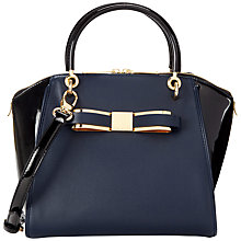 Buy Ted Baker Patent Blocked Bow Leather Tote Bag Online at johnlewis.com