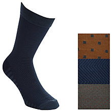 Buy Selected Homme Alokan Socks, Pack of 3, One Size, Bering Sea Online at johnlewis.com