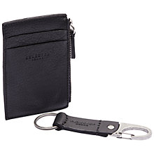 Buy Selected Homme Key Fob & Card Holder Set, Black Online at johnlewis.com