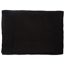 Buy Selected Homme Hat and Scarf Set, One Size, Black Online at johnlewis.com