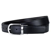 Buy Montblanc Revolving Horseshoe Belt, One Size, Black Online at johnlewis.com