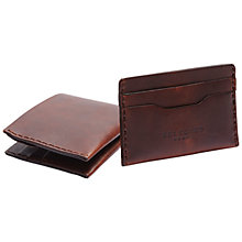 Buy Selected Homme Leather Wallet & Cardholder Gift Set, Tan Online at johnlewis.com