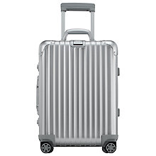 Buy Rimowa Topas Cabin Trolley IATA 55cm Suitcase, Silver Online at johnlewis.com