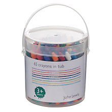 Buy John Lewis 65 Crayons In Tub Online at johnlewis.com