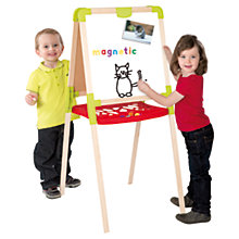 Buy Double-Sided Chalkboard & Magnetic Easel Online at johnlewis.com