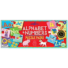 Buy Eeboo Alphabet & Numbers Puzzle Pairs Online at johnlewis.com