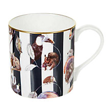 Buy House of Hackney Midnight Stripe Mug, Multi Online at johnlewis.com