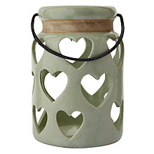 Buy Heart Lantern, Small, Green Online at johnlewis.com