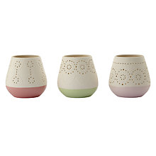 Buy Porcelain Tealight Holders, Assorted Online at johnlewis.com