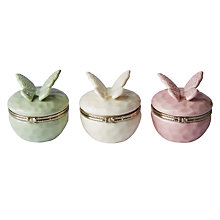 Buy Porcelain Butterfly Trinket Boxes, Assorted Online at johnlewis.com