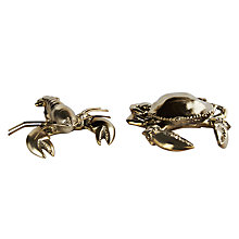 Buy Crab/Lobster Ornament, Gold, Assorted Online at johnlewis.com