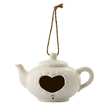 Buy Porcelain Teapot Bird House, Cream Online at johnlewis.com