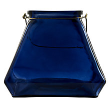 Buy Glass Lantern, Dark Blue Online at johnlewis.com