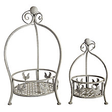 Buy Iron Chicken Planters, Set of 2, Grey Online at johnlewis.com