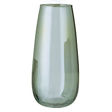 Buy Glass Green Lustre Vase Online at johnlewis.com