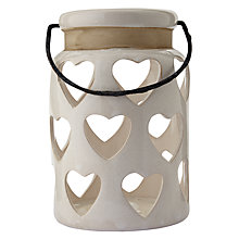 Buy Heart Lantern, Large, Cream Online at johnlewis.com