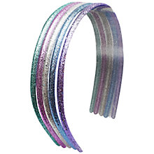 Buy John Lewis Glitter Alice Bands, Pack of 5, Multi Online at johnlewis.com