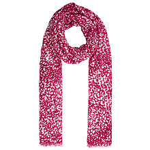 Buy John Lewis Scattered Animal Print Scarf, Pink Online at johnlewis.com