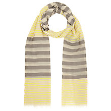 Buy John Lewis Graduated Stripe Scarf, Taupe Online at johnlewis.com